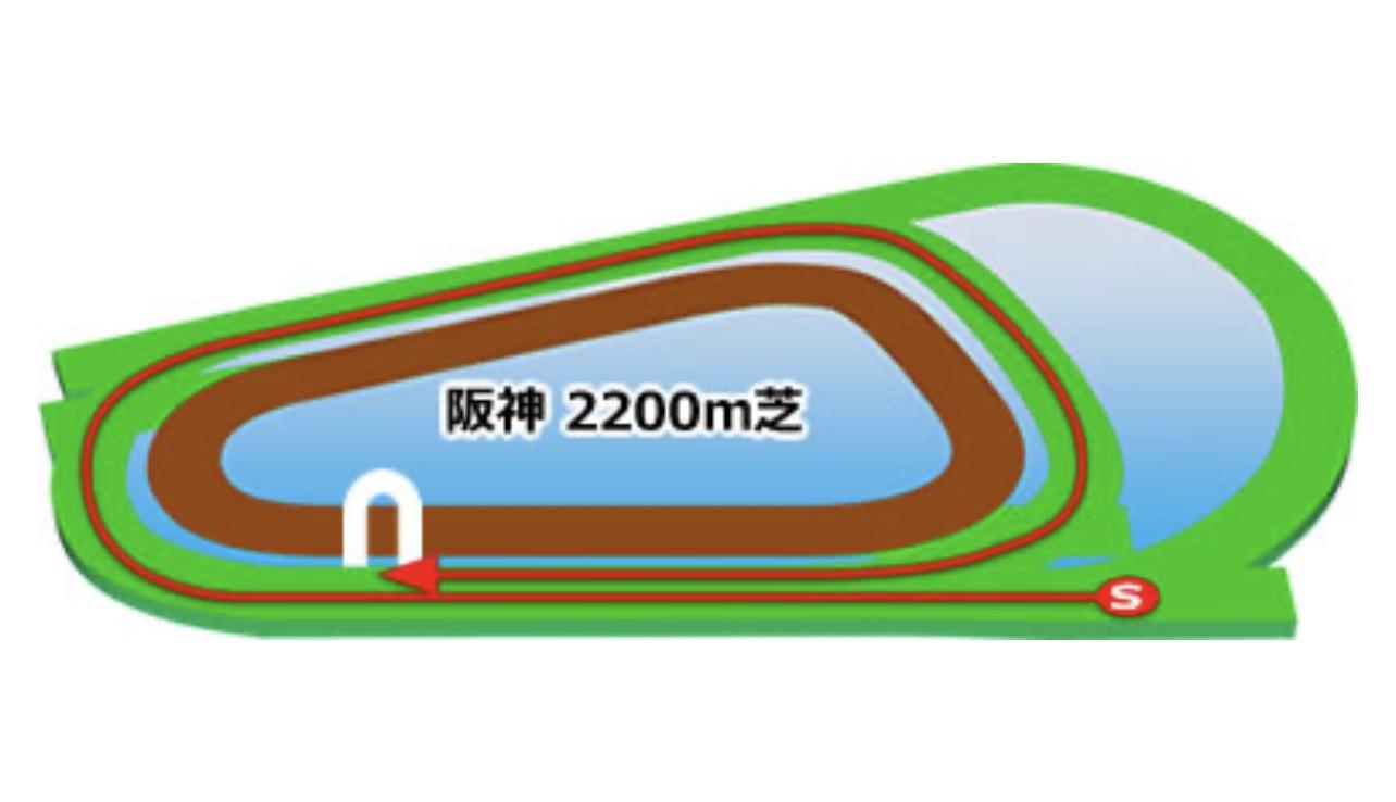 【阪神】芝2200mコースイメージ