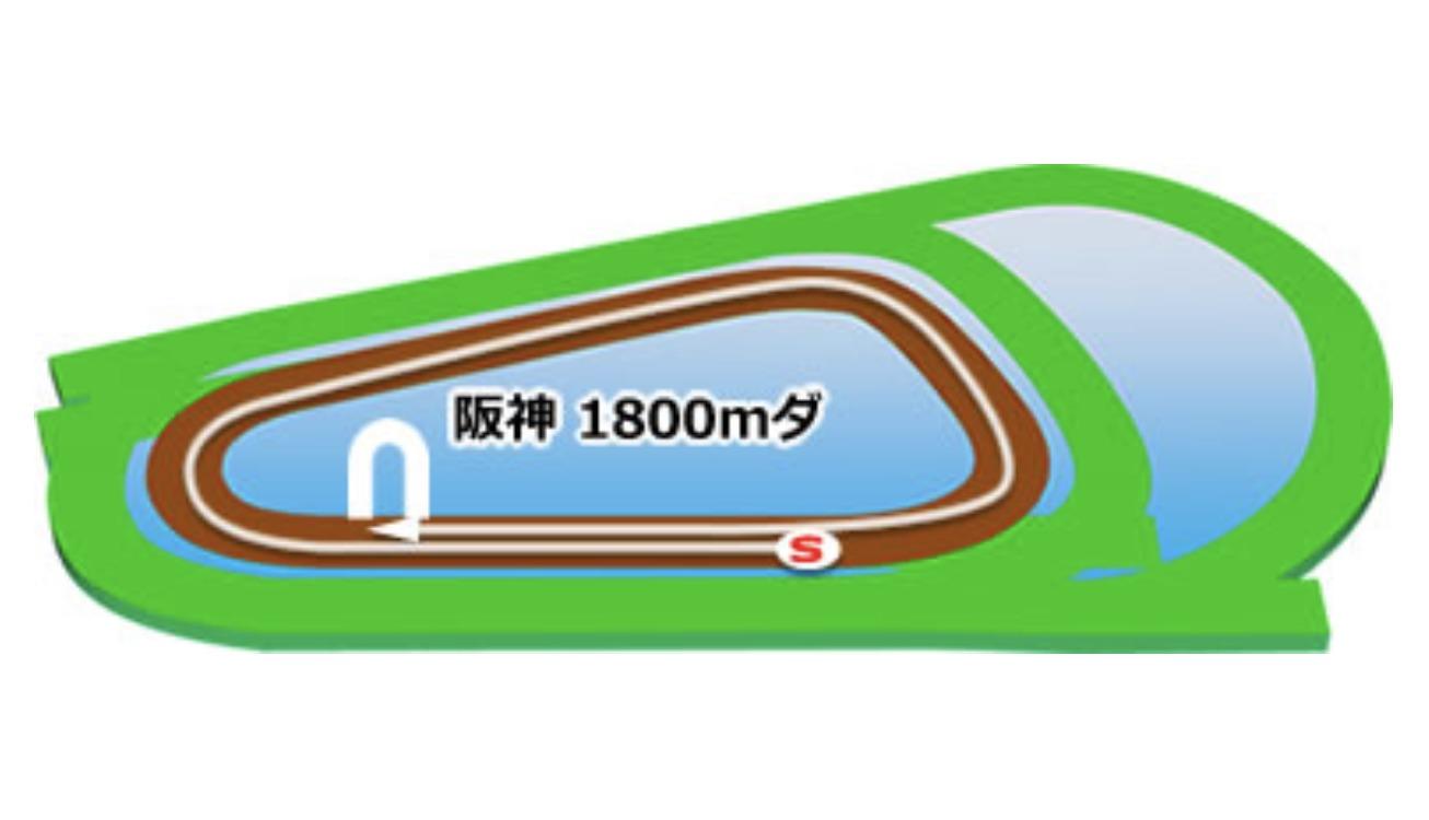 【阪神】ダート1800mコースイメージ