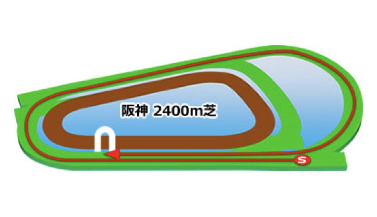 【阪神】芝2400mコースイメージ