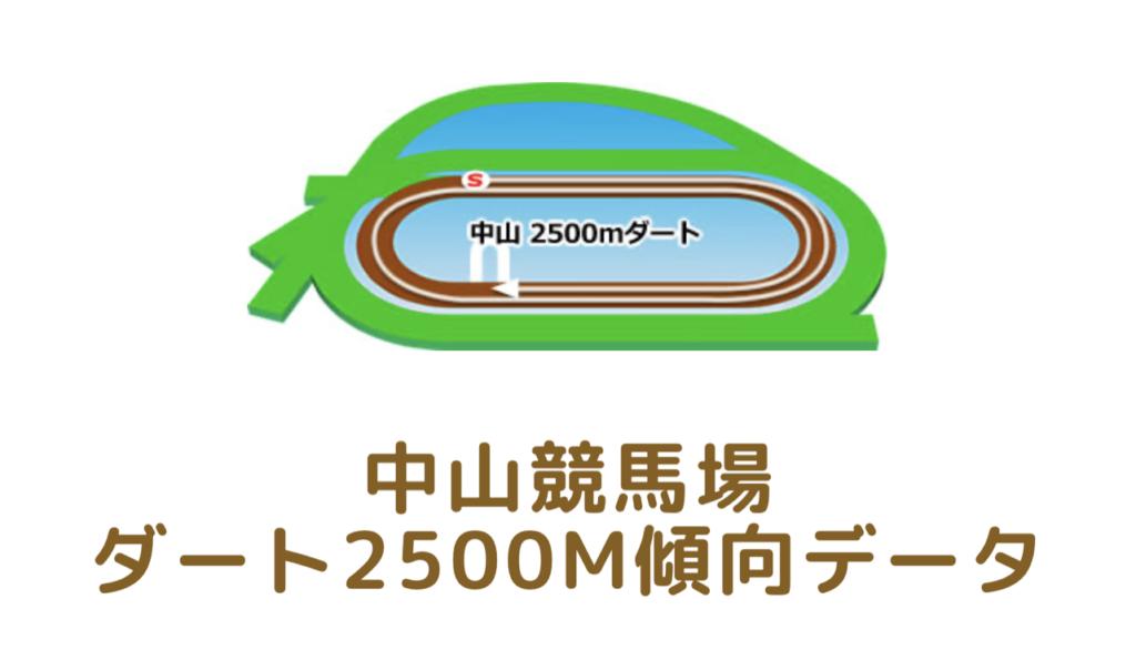 中山競馬場|ダート2500mの傾向データ(血統・枠・騎手・タイム・人気・脚質)