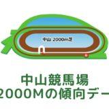 中山競馬場|芝2000mの傾向データ(血統・枠・騎手・タイム・人気・脚質)