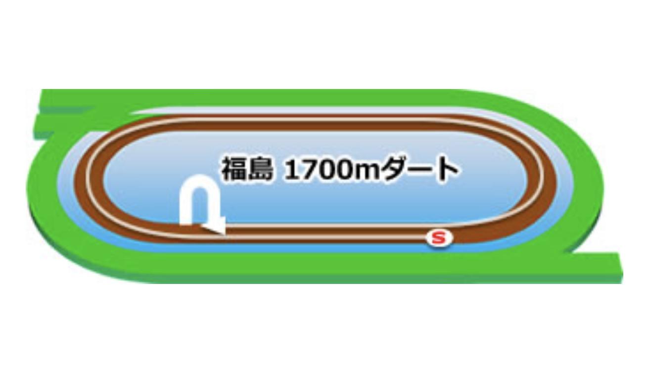 【福島】ダート1700mコースイメージ