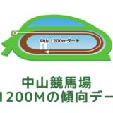 中山競馬場|芝1200mの傾向データ(血統・枠・騎手・タイム・人気・脚質)