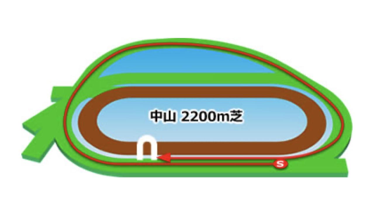 【中山】芝2200mコースイメージ