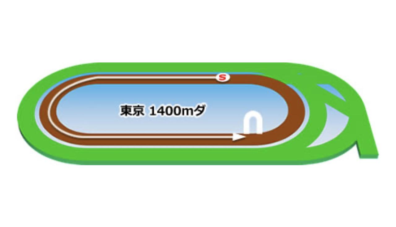 【東京】ダート1400mコースイメージ