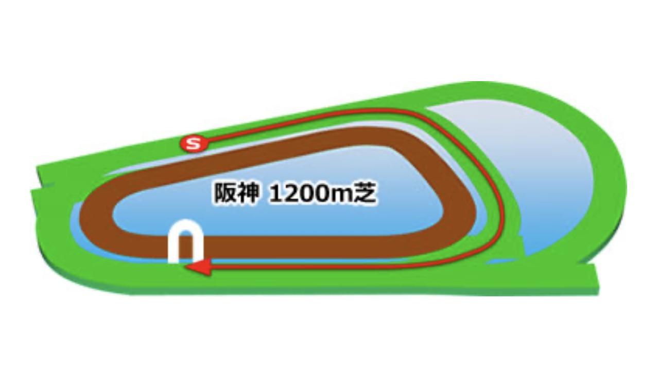 【阪神】芝1200mコースイメージ