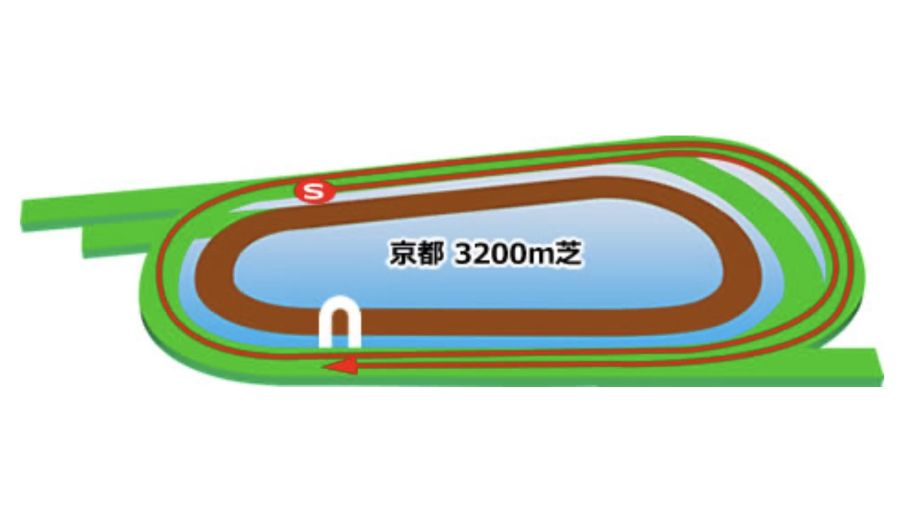 【京都】芝3200mコースイメージ