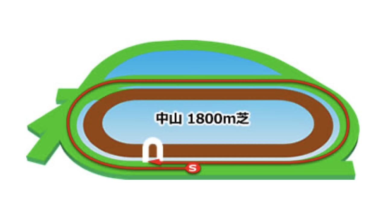 【中山】芝1800mコースイメージ