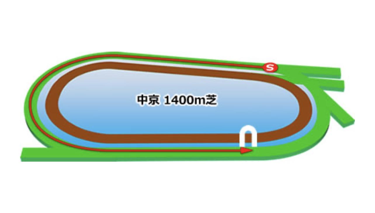 【中京】芝1400mコースイメージ
