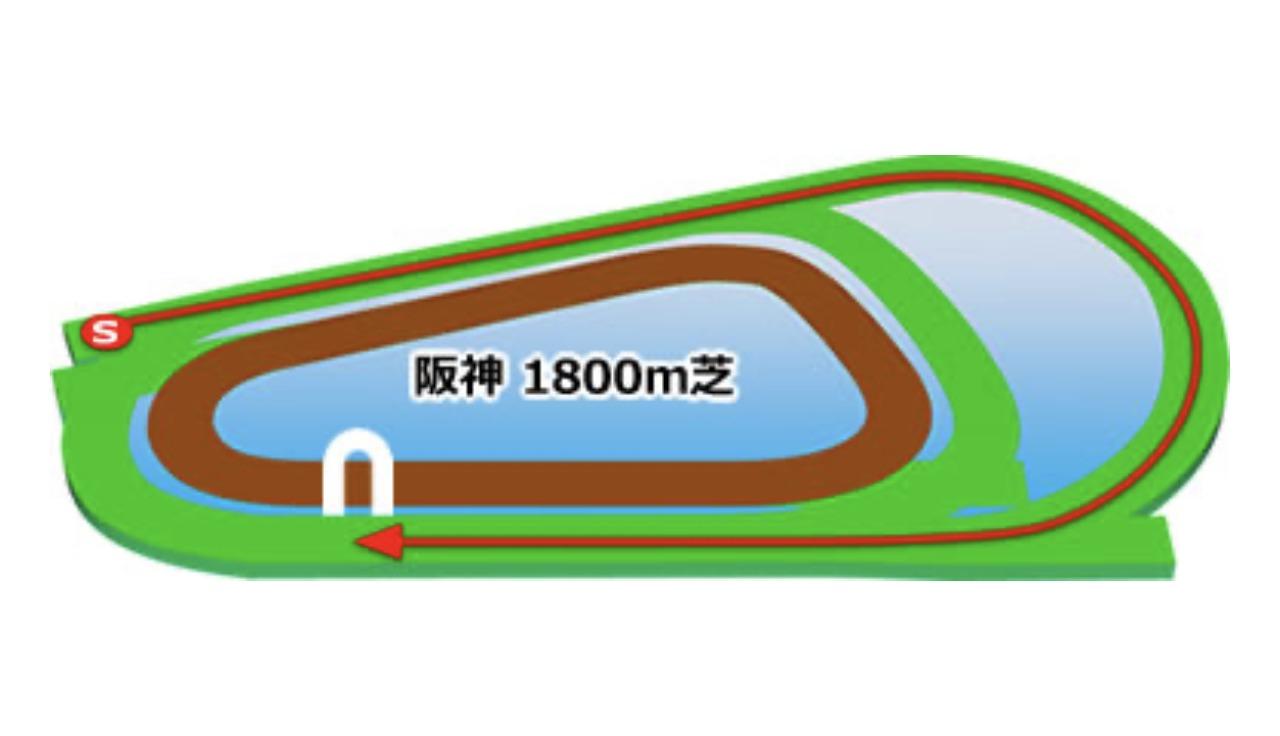 【阪神】芝1800mコースイメージ