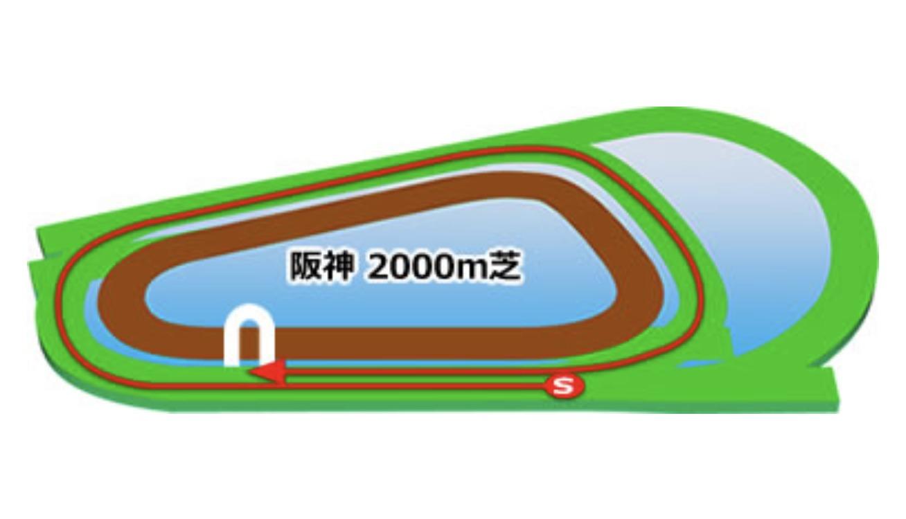 【阪神】芝2000mコースイメージ