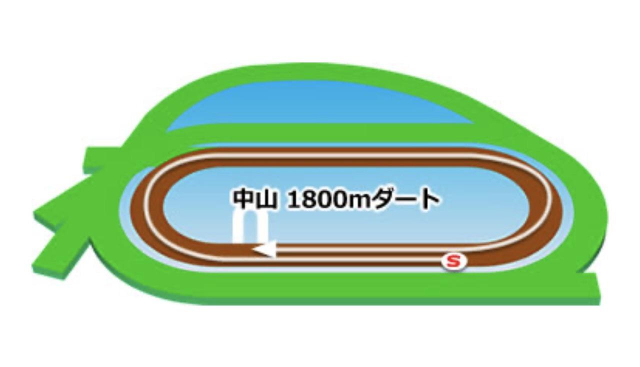 【中山】ダート1800mコースイメージ