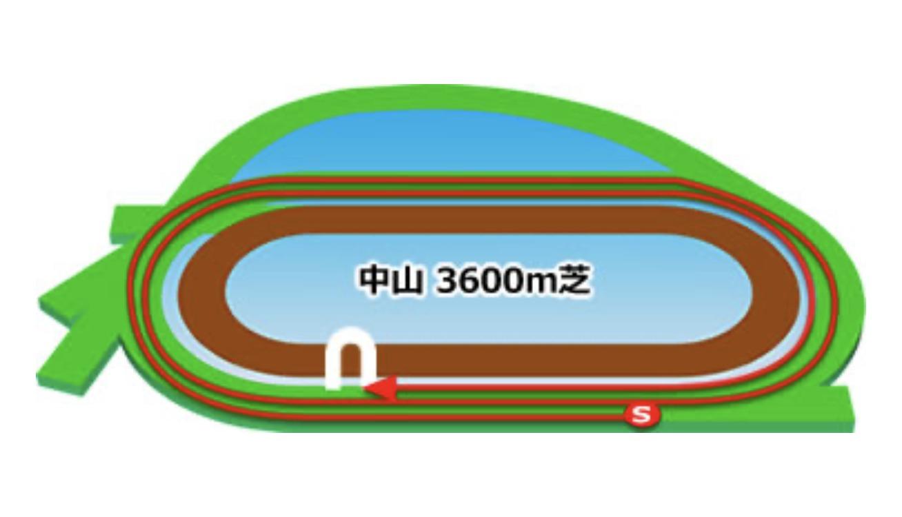 【中山】芝3600mコースイメージ