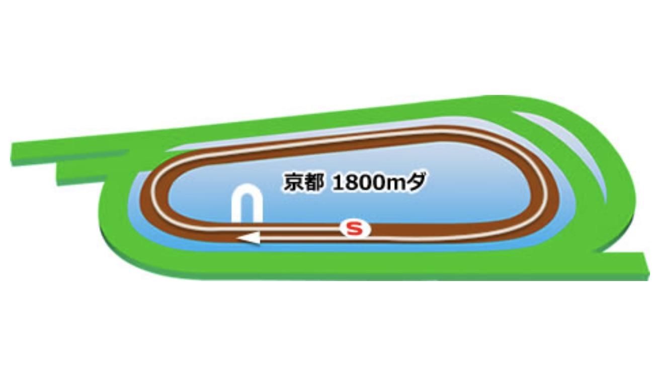【京都】ダート1800mコースイメージ