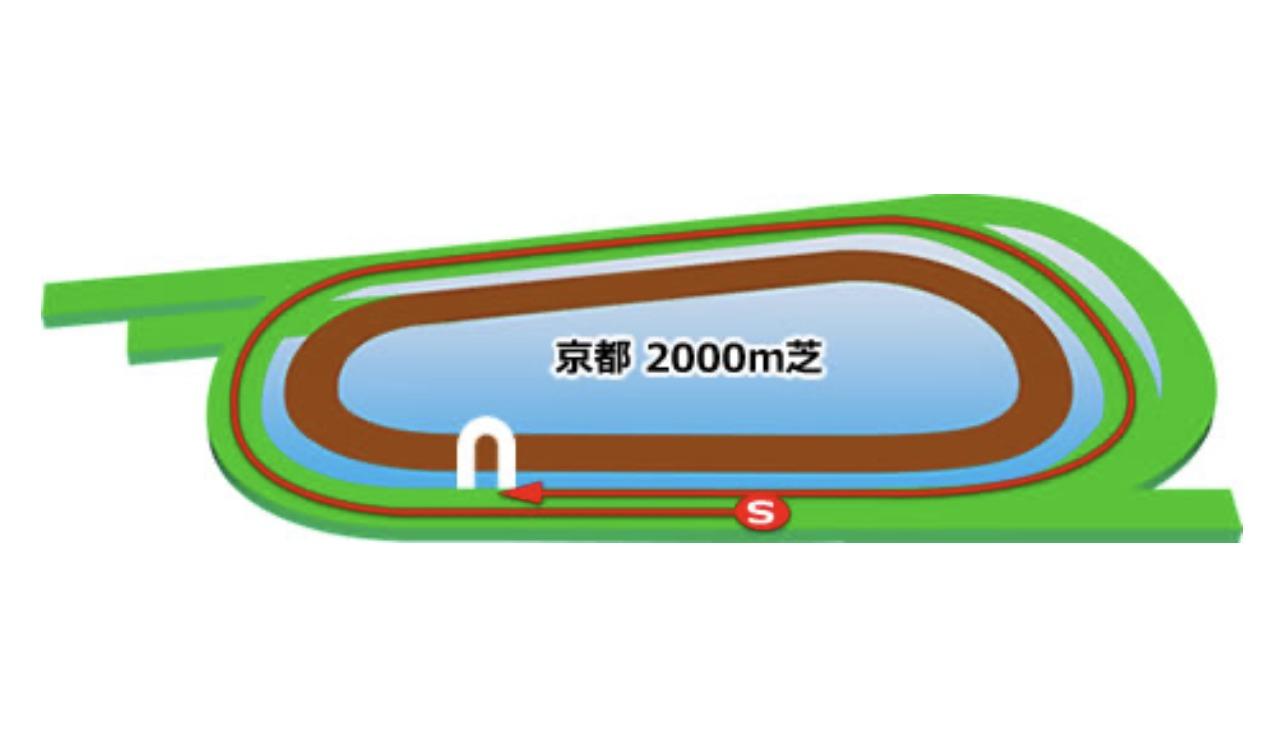 【京都】芝2000m(内)コースイメージ