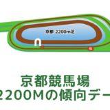 京都競馬場|芝2200mの傾向データ(血統・枠・騎手・タイム・人気・脚質)