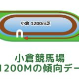小倉競馬場|芝1200mの傾向データ(血統・枠・騎手・タイム・人気・脚質)