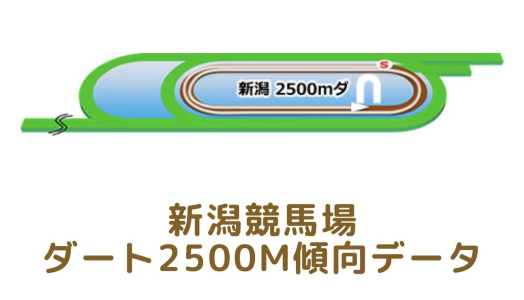 新潟競馬場|ダート2500mの傾向データ(血統・枠・騎手・タイム・人気・脚質)