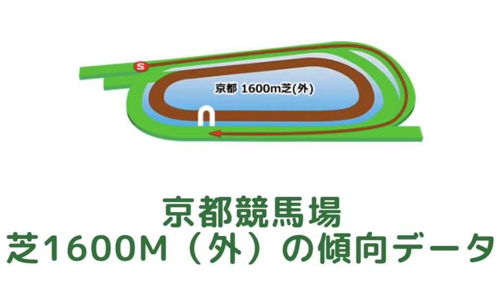 京都競馬場|芝1600m(外)の傾向データ(血統・枠・騎手・タイム・人気・脚質)