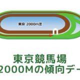 東京競馬場|芝2000mの傾向データ(血統・枠・騎手・タイム・人気・脚質)