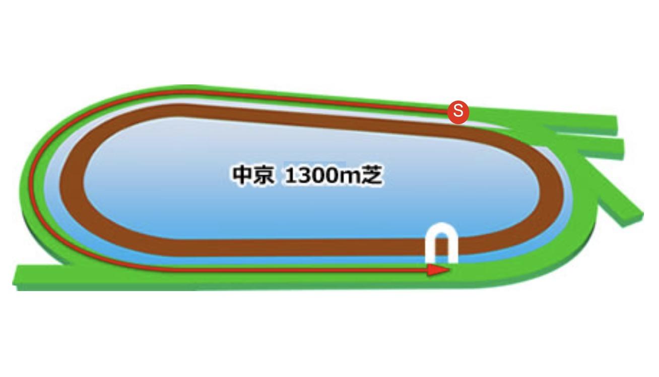 【中京】芝1300mコースイメージ