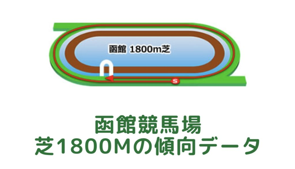 函館競馬場|芝1800mの傾向データ(血統・枠・騎手・タイム・人気・脚質)