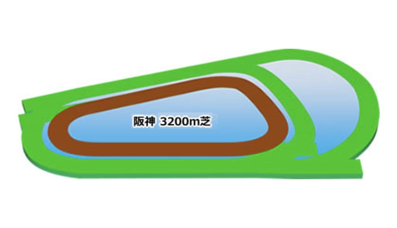 【阪神】芝3200mコースイメージ
