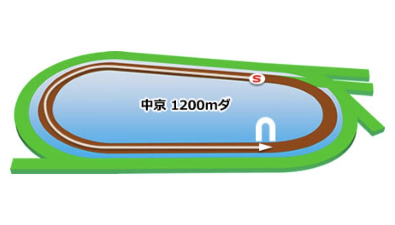 【中京】ダート1200mコースイメージ