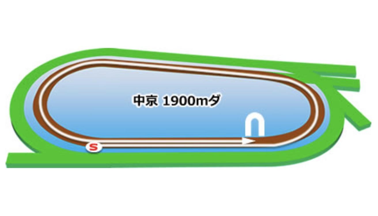 【中京】ダート1900mコースイメージ
