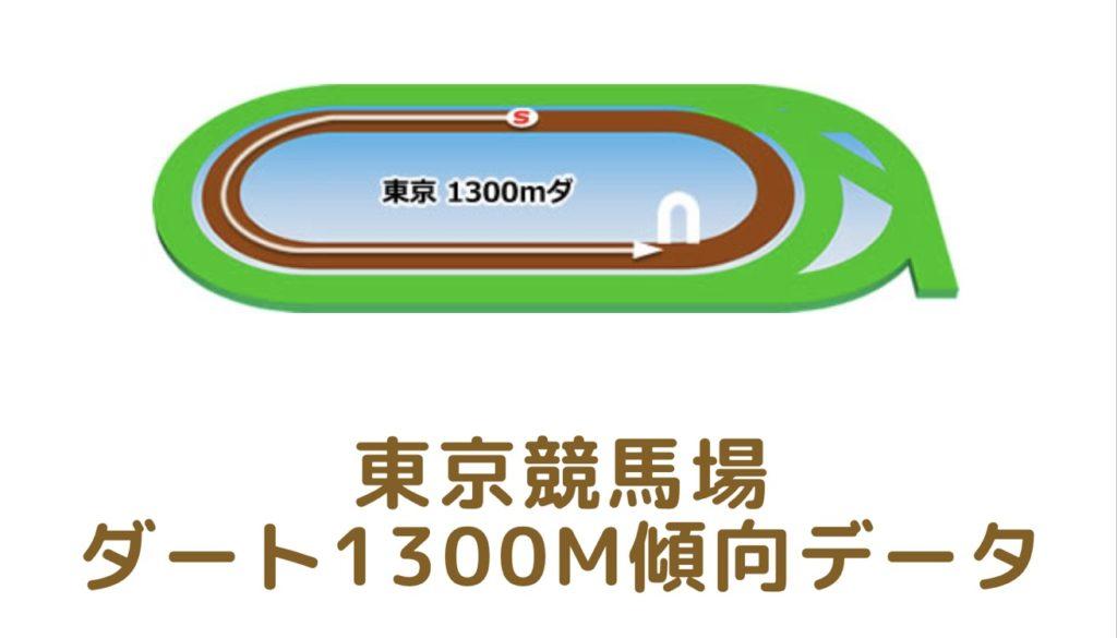 東京競馬場 ダート1300mの傾向データ(血統・枠・騎手・タイム・人気・脚質)