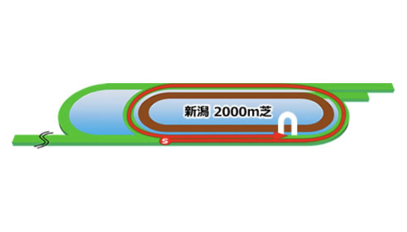 【新潟】芝2000m(内)コースイメージ