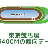 東京競馬場|芝3400mの傾向データ(血統・枠・騎手・タイム・人気・脚質)