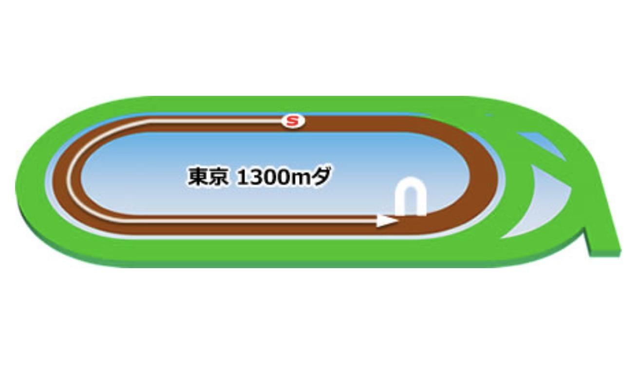 【東京】ダート1300mコースイメージ