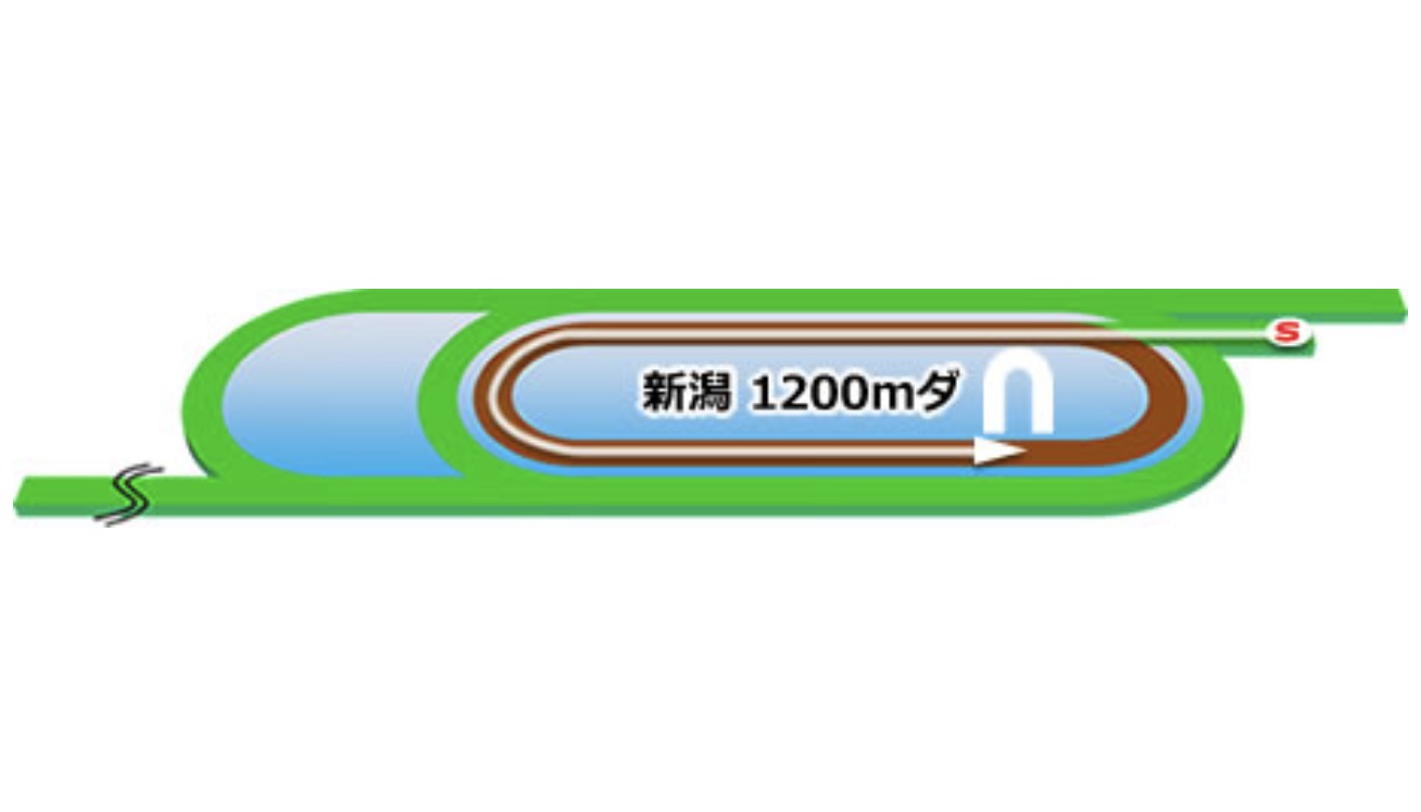 【新潟】ダート1200mコースイメージ