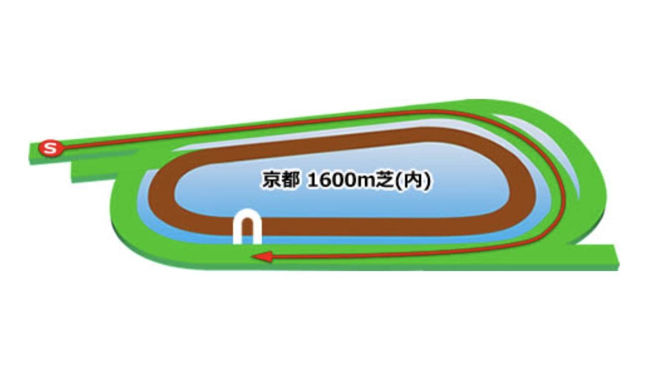 【京都】芝1600m(内)コースイメージ