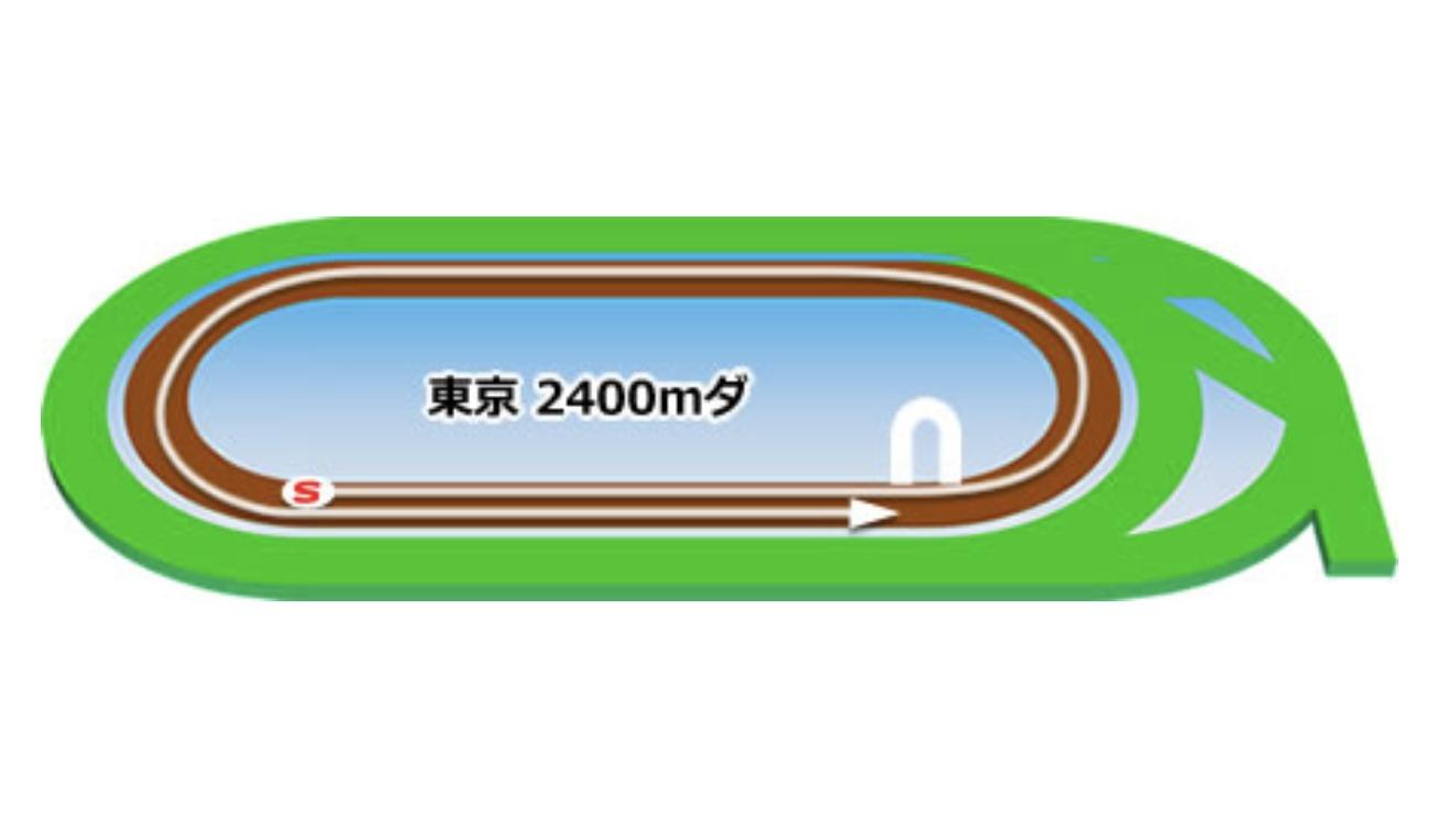 【東京】ダート2400mコースイメージ