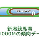 新潟競馬場|芝1000mの傾向データ(血統・枠・騎手・タイム・人気・脚質)