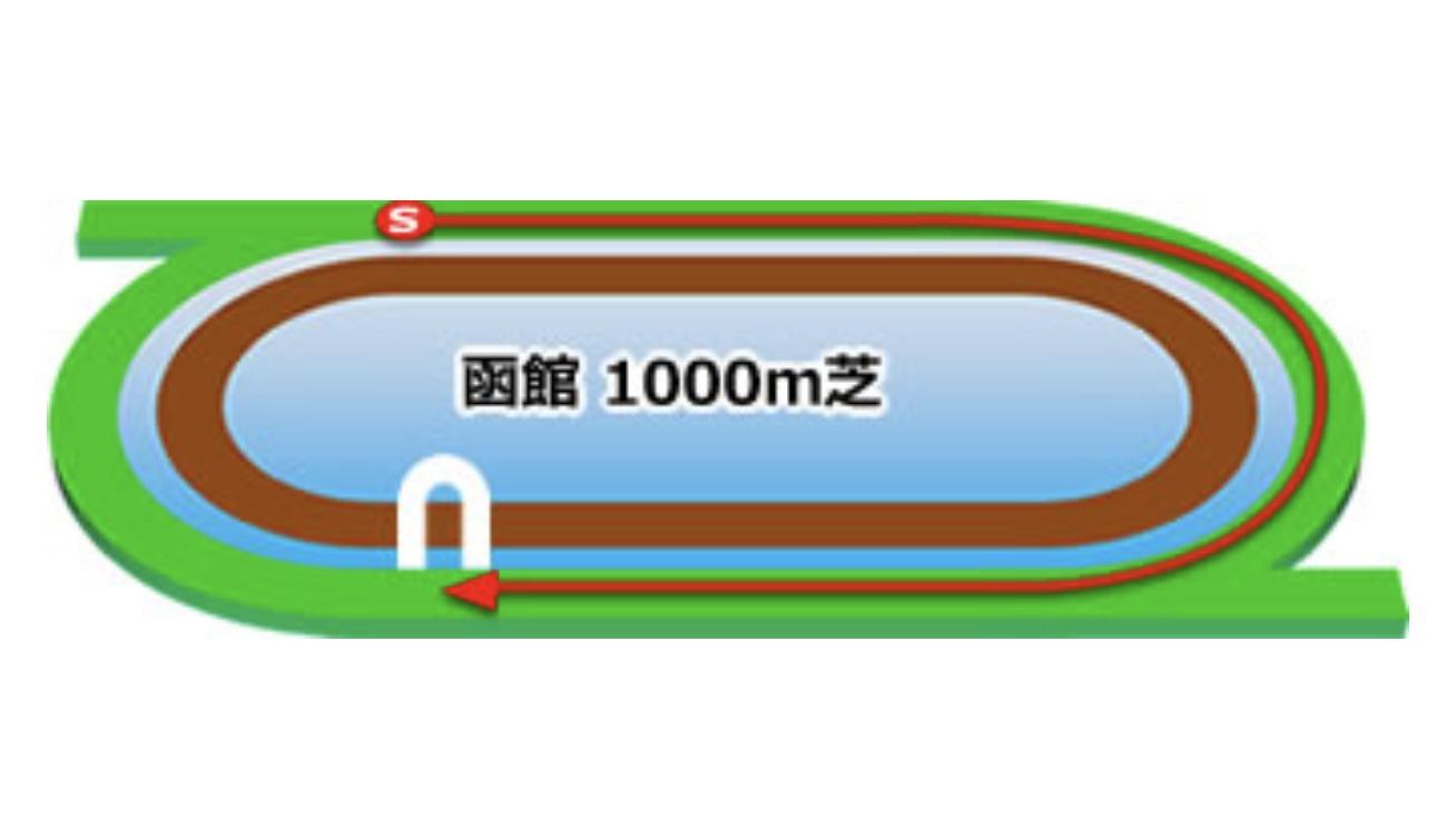 【函館】芝1000mコースイメージ
