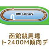 函館競馬場|ダート2400mの傾向データ(血統・枠・騎手・タイム・人気・脚質)