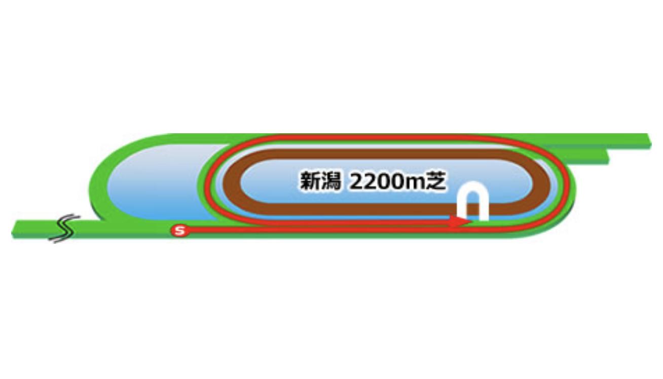 【新潟】芝2200m(内)コースイメージ